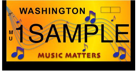 Music Matters WA License Plates
