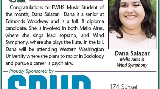 EWHS March Student of the Month – Dana Salazar