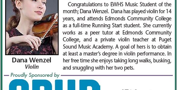 EWHS Music Student of the Month: Dana Wenzel