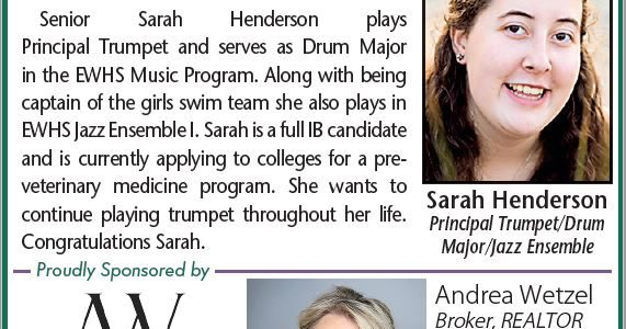 EWHS Music Student of the Month: Sarah Henderson