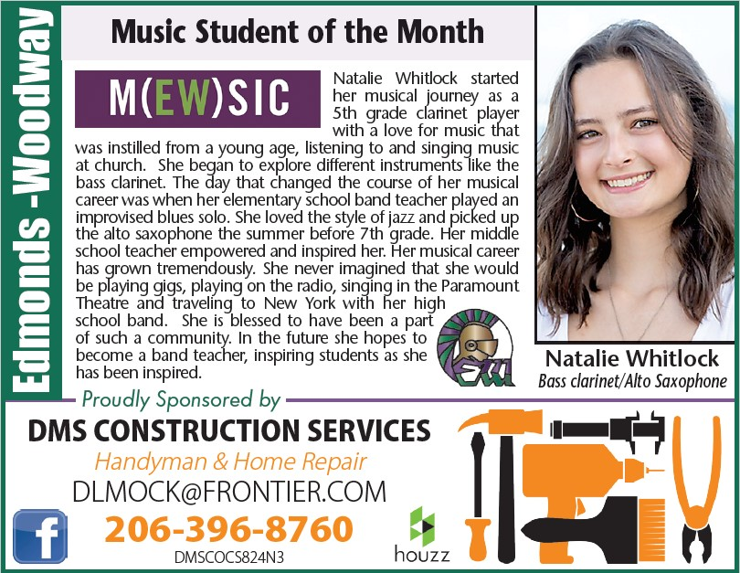 Natalie Whitlock, Student of the Month